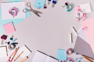 school girlish writing accessories other stationery form circle