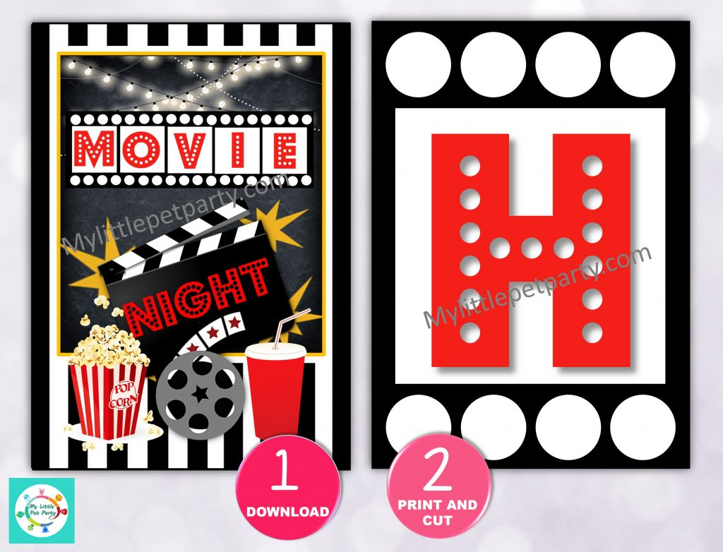 Movie Night Party Banner