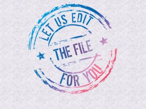 Let us edit for you