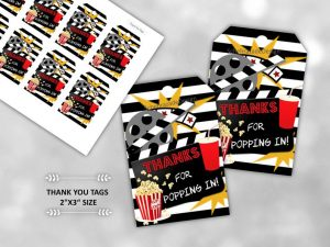 Movie Night Party Favors Tags